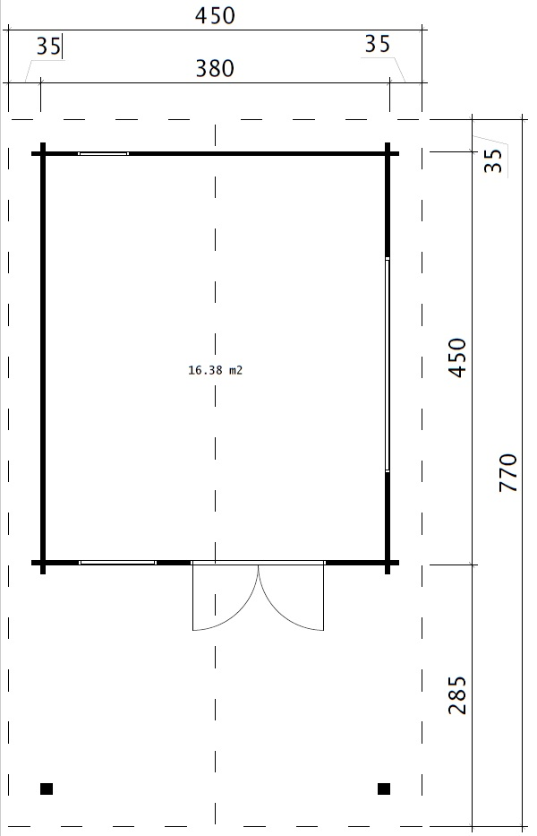 Garden Room Mark 16m2 / 4x4m / 44mm