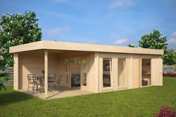 Summer House Rio with Storage Room 22m² / 50mm / 9 x 4 m