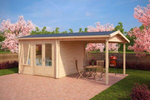 Gartenhaus mit Sonnendach Nora D