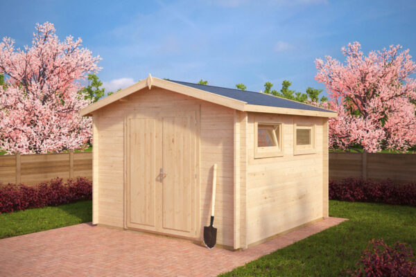 Garden shed Nora F 8,5m² / 3,2 x 3,2 m / 40mm