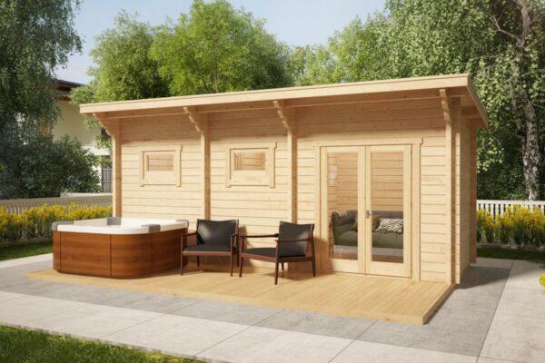 Sauna Cabin Oliver II 11m² / 70mm / 6 x 2 m