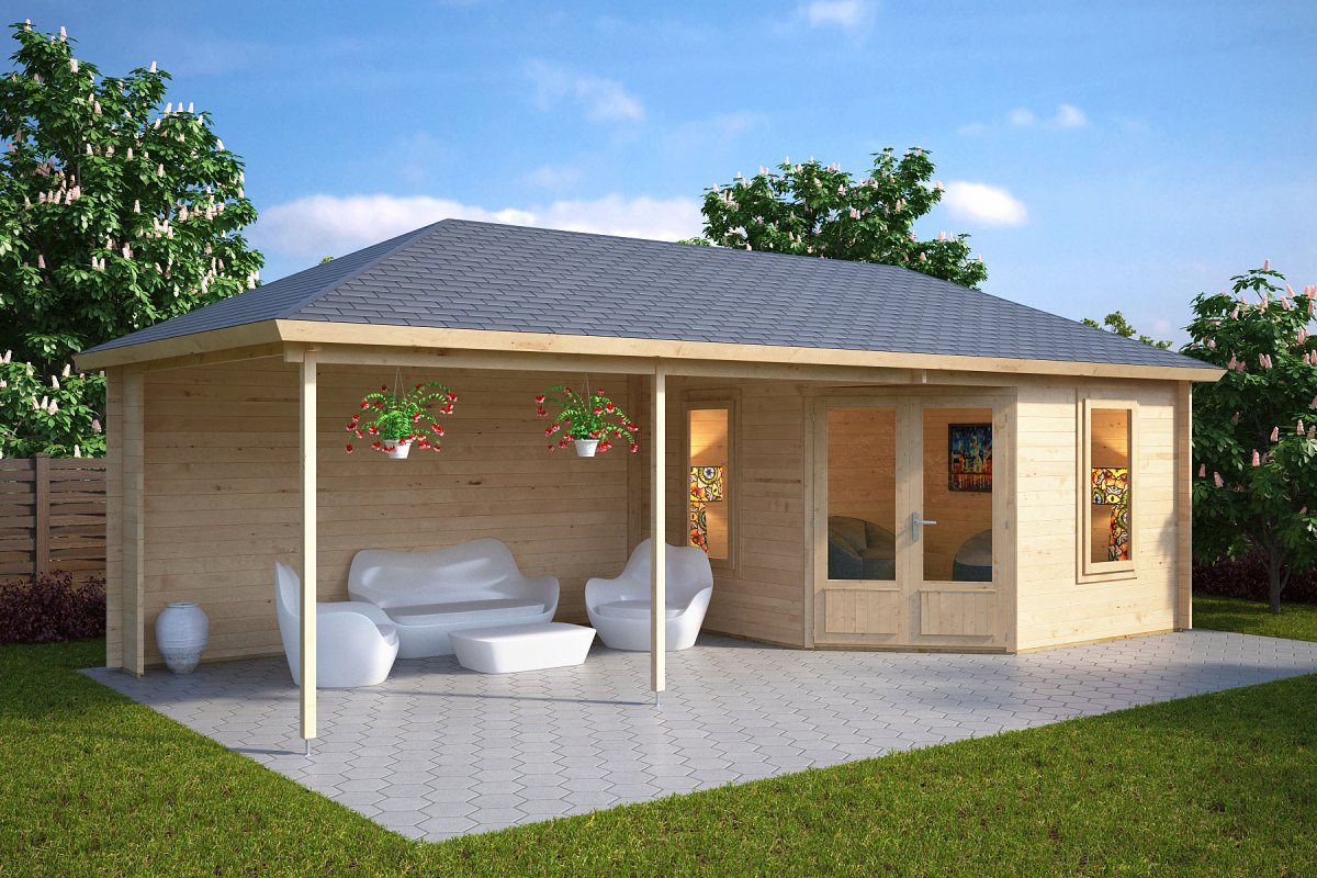 gartenhaus sophia 10m 8 x 3 5 m 44mm hansa gartenhaus. Black Bedroom Furniture Sets. Home Design Ideas