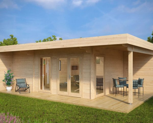 Summer House Hansa Lounge XXL with Sauna 22m² / 44mm / 8 x 5 m
