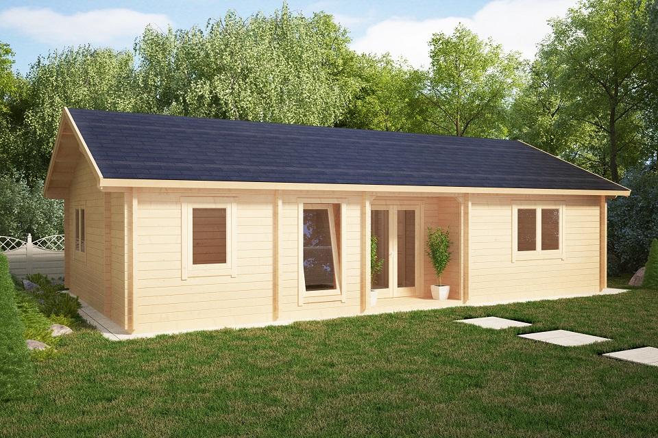 blockhaus dune 70m2 70mm 12 x 6 m hansa gartenhaus. Black Bedroom Furniture Sets. Home Design Ideas