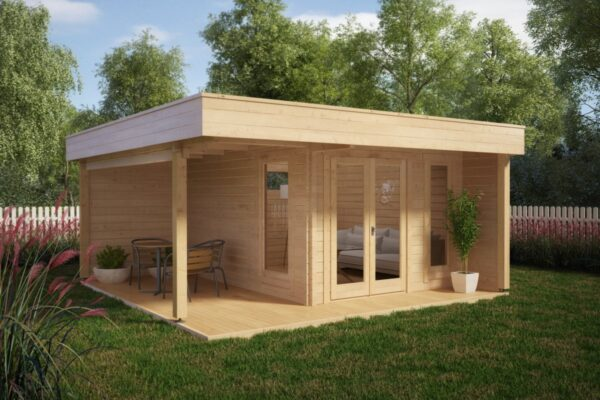 Summer house Hansa Lounge 11,5m² / 5 x 5 m / 44mm