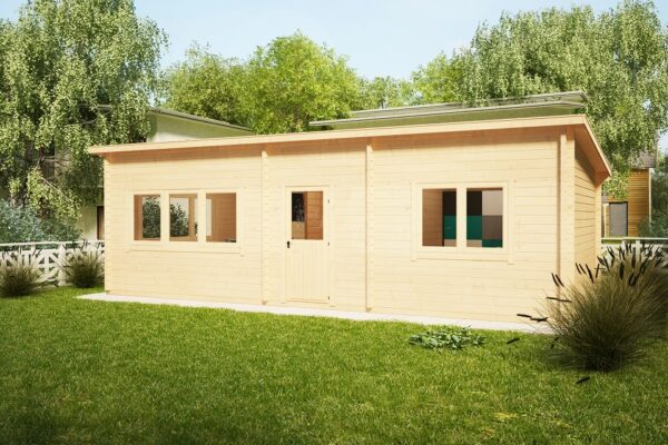 One Bedroom Cabin Holiday J 38m2 / 4,5 x 9 m / 70mm