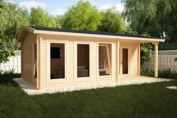 Garden Log Cabin Malaga-1 22m2 / 7 x 4 m / 58mm