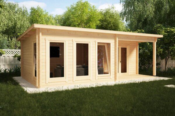 Garden Log Cabin Malaga-2 22m2 / 7 x 4 m / 58mm