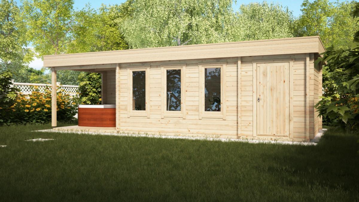 Gartenhaus mit schuppen super jacob e 18 m2 9 x 3 m 44 for Gartenhaus mit schuppen