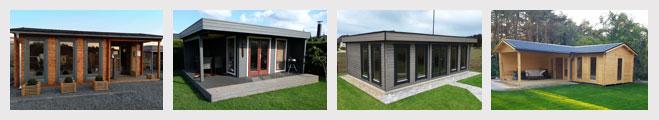 Kundenfotos von unseren Gartenholzhäusern und Blockhäusern