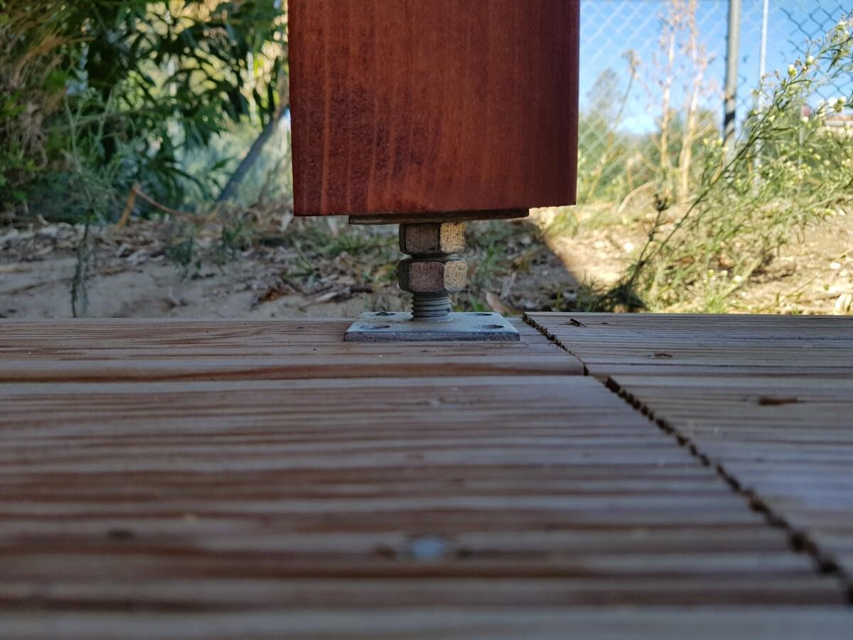 Wenn Ihr Gartenhaus Stützpfosten hat sind