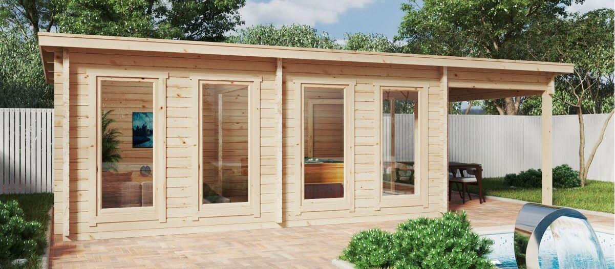 Ein Gartenhaus aus Holz – Im Sommer kühl, im Winter warm
