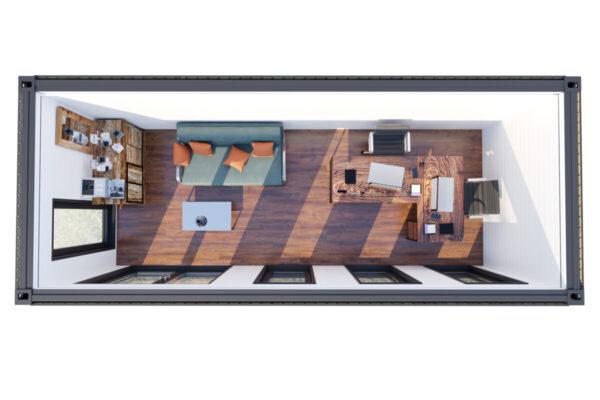 Container Haus V1 Gebäudeplan