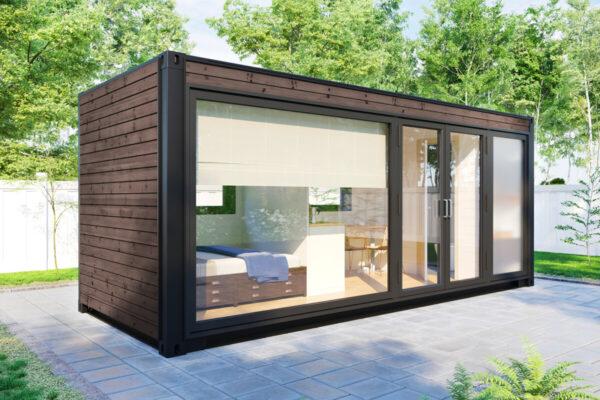 Mini Container Haus V3 Braun