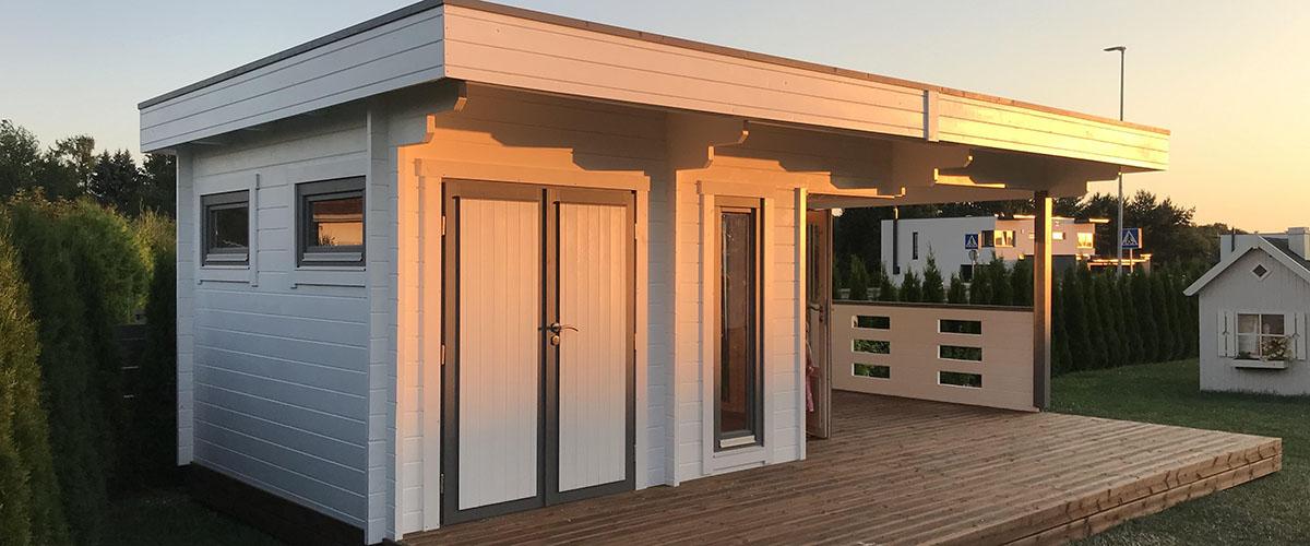 Angenehme Temperaturen im Gartenhaus aus Holz im Sommer Tipps un