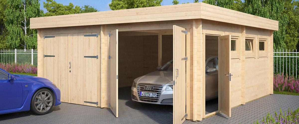Holzgarage selber bauen – Eigenkonstruktion oder Bausatz