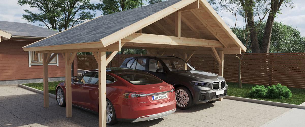 Holzgarage selber bauen