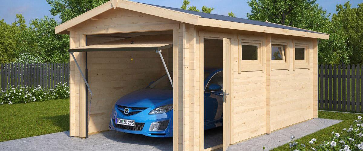 Holzgarage selber bauen Eigenkonstruktion oder Bausatz