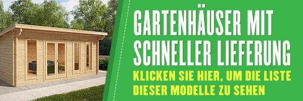 Gartenhäuser mit schneller Lieferung