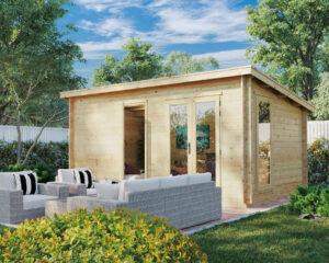 """Gartenhaus aus Holz """"Ryan"""" DS 14m2 / 5 x 3 m / 44 mm"""